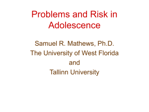 Problems in Adolescence: A Western Perspective