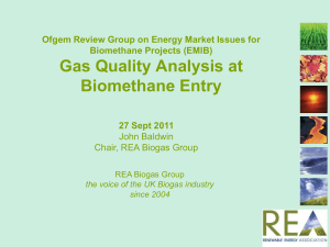 Gas Quality Analysis at Biomethane Entry