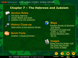 CH 7_The hebrews and Judaism