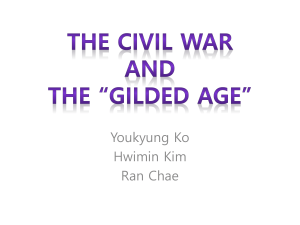 "The Civil War and the ""Gilded Age"""