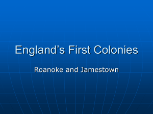 England`s Early Colonies