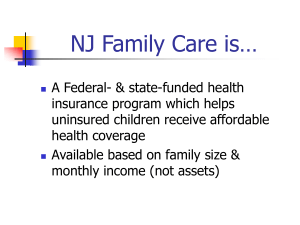 New Jersey Family Care: what is it?