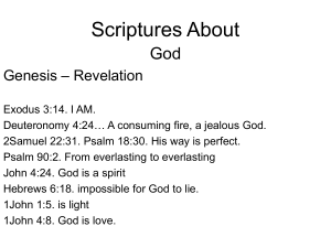 Scriptures About