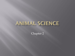 Animal Science - Van Buren Public Schools