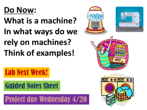 What is a machine?