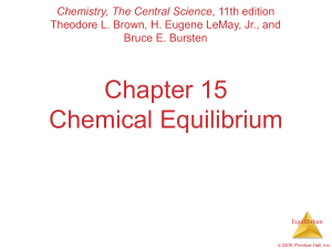 Chapter 15 Chemical Equilibrium