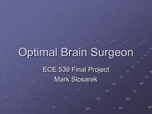Optimal Brain Surgeon