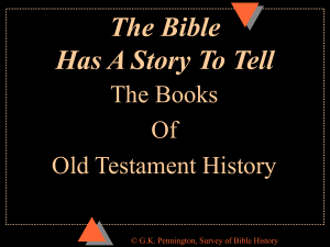 OT Books of History Survey of Bible