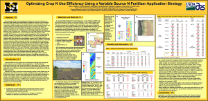 Optimizing Crop N Use Efficiency Using a Variable Source N
