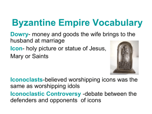 Byzantine Empire Vocabulary Dowry