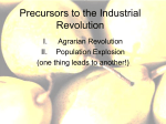 Precursors to the Industrial Revolution