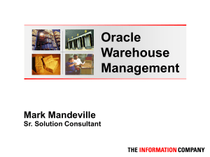 Warehouse Mgmt Overview