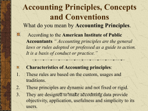 Accounting Principles, Concepts and Conventions