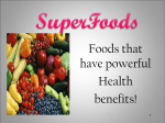 Superfoods - Canon-MacPreschool