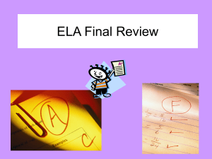 ELA Final Review - anselmtechclass
