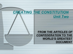 CREATING THE CONSTITUTION Unit Two