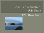 Lake Isle of Inisfree WB Yeats