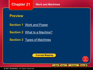Section 2 What Is a Machine?