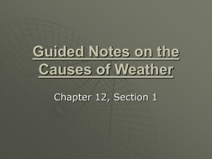 Guided Notes on the Causes of Weather