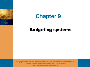 continued 26 Behavioural consequences of budgeting