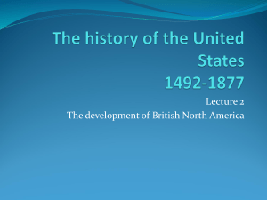 The history of the United States 1492-1877