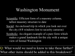 Discussion slide: The Three S`s of the Washington Monument