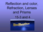 Reflection and color, Refraction, Lenses and Prisms