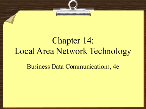 Chapter 14: Local Area Network Technology