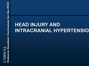 Head Injury and Intracranial Hypertension