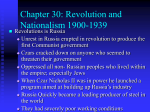 Chapter 30: Revolution and Nationalism 1900-1939