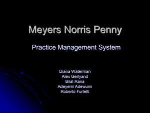 Team 4, Practice Management System at Meyers Norris Penny