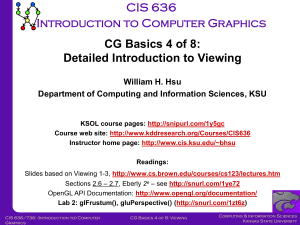 Computer Graphics - KDD - Kansas State University