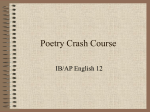 Poetry Crash Course