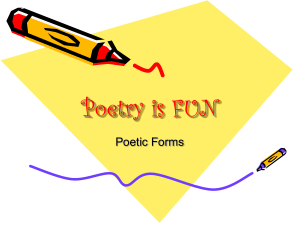 PowerPoint Presentation - Poetry is FUN