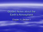 Guided Notes about the Earth`s Atmosphere