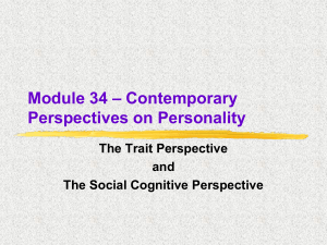 Social-Cognitive Perspective