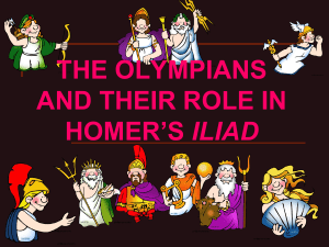 The Olympians and their role in Homer`s Iliad