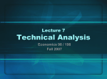 Lecture 4: Technical Market Analysis