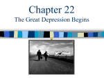 Chapter 22 Great Depression Begins