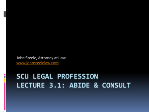 SCU Lecture 3.1 - Abide and Consult