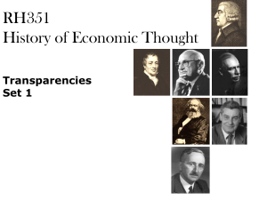 Approaching the History of Economic Thought - Rose