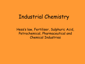 Industrial Chemistry - Deans Community High School