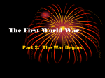 The First World War - Middletown Public Schools