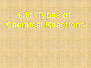 Power point types of chemical rxn