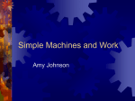 Simple Machines and Work