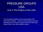 PRESSURE GROUPS USA