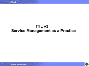 ITIL v3Foundation Internal Course v1.0