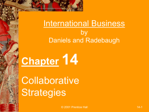Collaborative Arrangements as IB Operating Modes