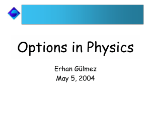 Options in Physics