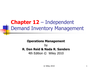 Independent Demand Inventory Management